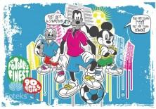 Fototapeta na flizelinie Myszka Mickey - Piłka nożna (539VE)