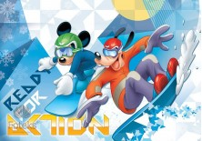 Fototapeta na flizelinie Myszka Mickey - Snowboard (1259VE)