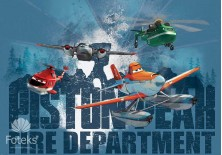 Fototapeta na flizelinie Planes - Fire department (1541VE)