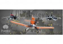 Fototapeta panoramiczna Planes - Do boju 250x104 cm (513VEP)