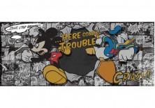 Fototapeta panoramiczna Myszka Mickey- Nadchodzą kłopoty 250x104 cm (538VEP)