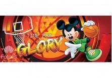 Fototapeta panoramiczna Myszka Mickey - Koszykówka 250x104 cm (1273VEP)