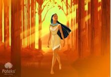 Fototapeta na flizelinie  Pocahontas - W lesie (10789VE)
