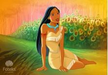 Fototapeta na flizelinie  Pocahontas - W słonecznikach (10788VE)
