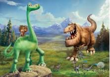 Fototapeta na flizelinie Dobry dinozaur - Na zielonym dinozaurze (3171VE)