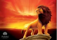 Fototapeta na flizelinie Król lew - Simba na skale (3205VE)