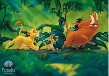 Fototapeta na flizelinie Król lew - Simba, Timon i Pumba (3204VE)