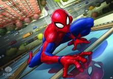 Fototapeta na flizelinie Spiderman - Na ścianie budynku (10591VE)