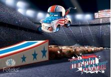 Fototapeta na flizelinie Disney Auta - Zawody na stadionie (814VE)