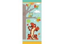 Fototapeta samoprzylepna na drzwi Kubuś Puchatek - Tygrysek pod drzewkiem (811SKT) 91x211 cm
