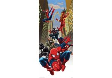 Fototapeta samoprzylepna na drzwi Spiderman - Między budynkami (1274SKT) 91x211 cm