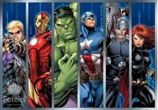 Fototapeta na flizelinie Avengers - Sylwetki bohaterów (964VE)