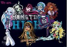 Fototapeta na flizelinie Monster High - Upiorne przyjaciółki (982)