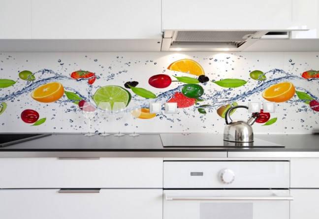 Kuchenna  Pływające owoce (01) (wf551)  Fototapety   -> Fototapety Kuchenne Aranzacje