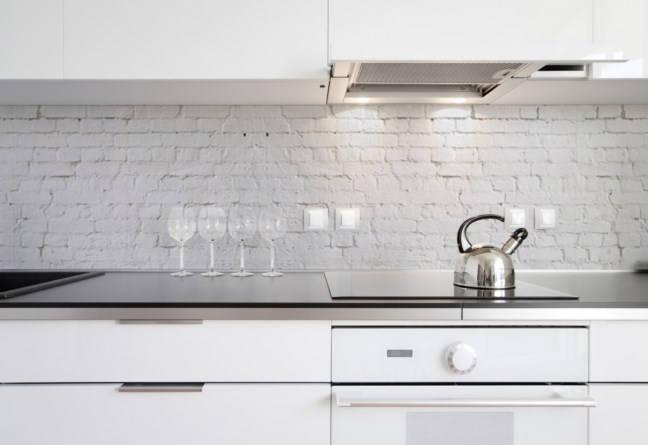 Fototapeta kuchenna Kuchenna  Białe cegły (114A) #wf675   # Fototapety Kuchenne Aranzacje