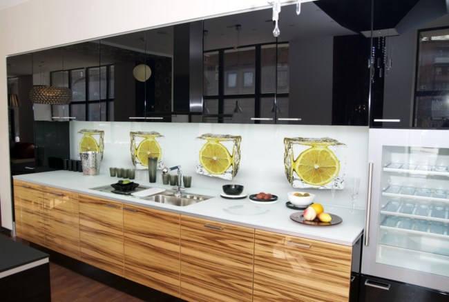 Fototapeta kuchenna Kuchenna  Cytryny w kostkach lodu (17