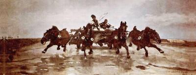 Obraz na płótnie Józef Chełmoński - Czwórka