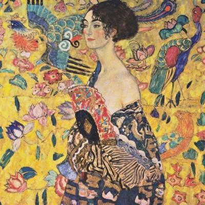 Obraz na płótnie Gustav Klimt - Dama z wachlarzem