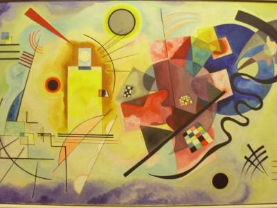 Obraz na płótnie Wassily Kandinsky - Żółto-czerwono-niebieski