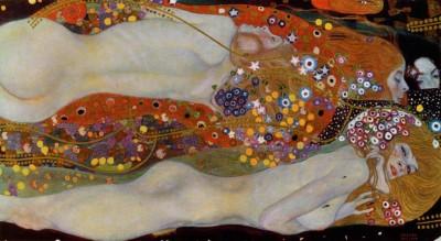 Obraz na płótnie Gustav Klimt - Węże wodne