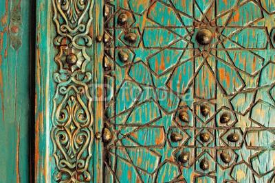 Naklejka Ozdobny wzór na drzwiach