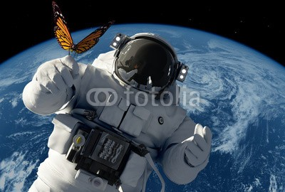 Plakat Astronauta i motyl