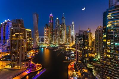 Obraz na płótnie Dubai nocą