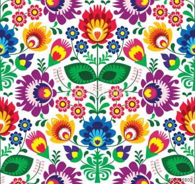 Naklejka Wzór ludowy - Kwiaty