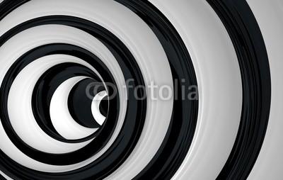Obraz w ramie Czarno-biały wir