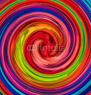 Obraz w ramie Kolorowe zawirowania