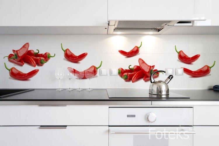 Fototapeta kuchenna Czerwone papryczki