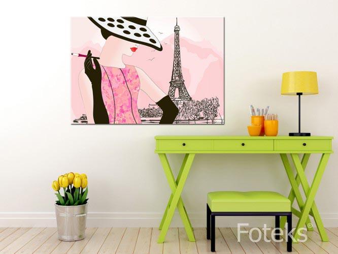 Obraz na płótnie Różowy Paryż