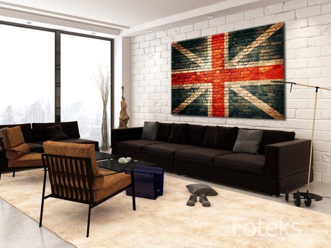 Obraz na płótnie Flaga Wielkiej Brytanii