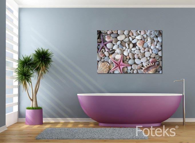 Obraz na płótnie Kamienie i muszelki