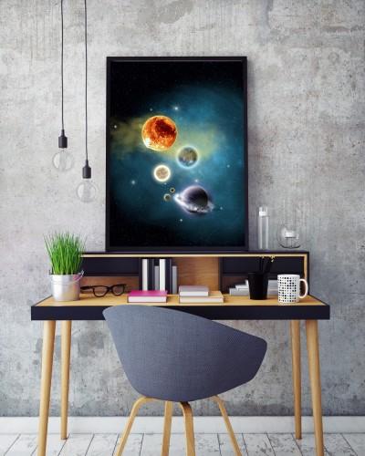 Obraz w ramie Planety