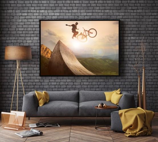 Obraz w ramie Rower w powietrzu